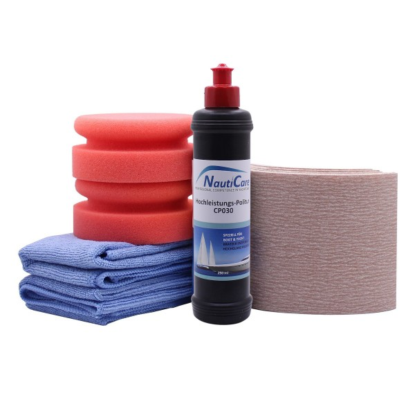 NautiCare Gelcoat Politur Set mit NautiCare Hochleistungs-Politur CP030 250 ml